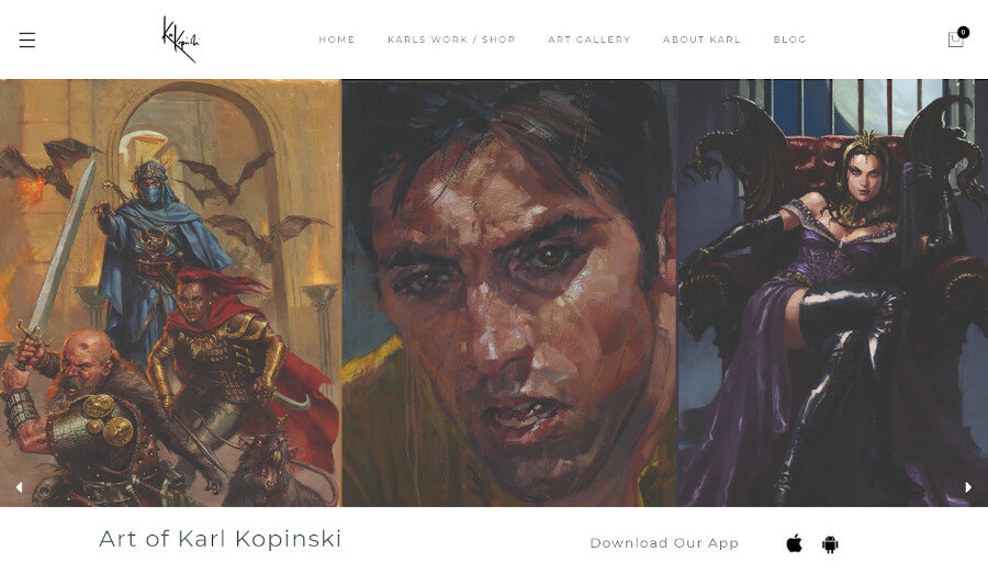 Karl Kopinski Ecommerce Site