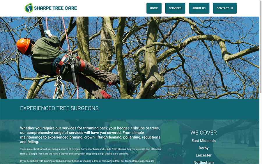 Sharpe Tree Care Website